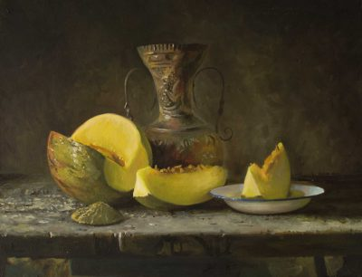 Bodegón con melón original de Copiamuseo