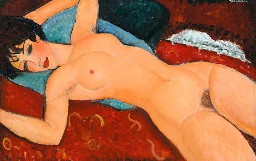 Desnudo acostado de Amedeo Modigliani
