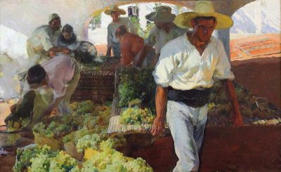 Transporting the grapes by Joaquín Sorolla