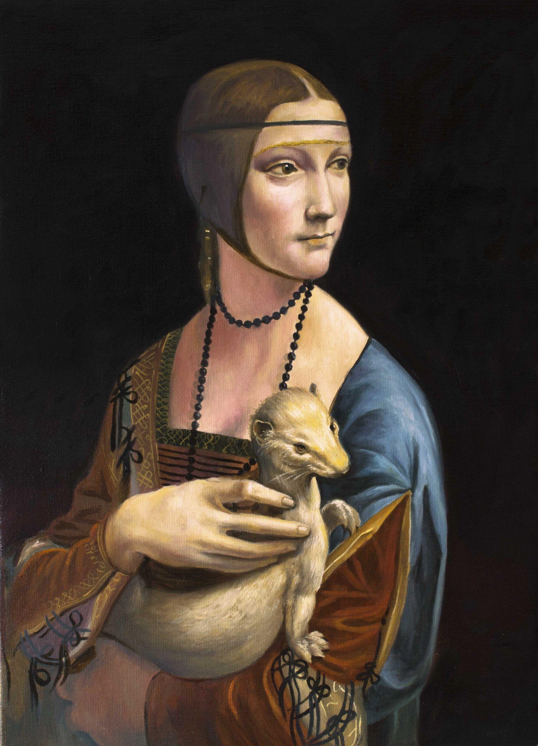 cuadros al óleo - La dama del armiño, reproducción