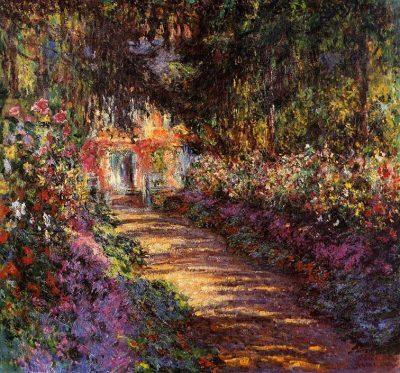 Camino en el jardín de Monet en Giverny