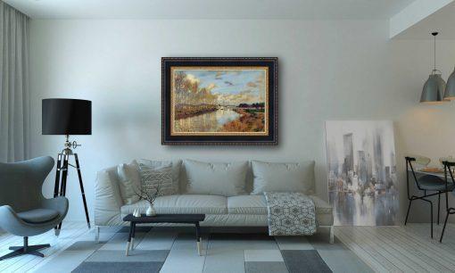 Argenteuil, visto desde el brazo pequeño del Sena de Claude Monet
