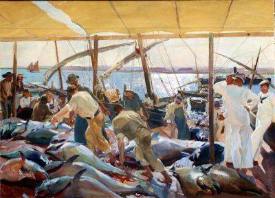Ayamonte y la pesca del atún de Joaquín Sorolla