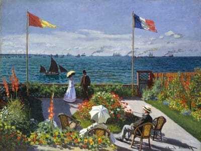 La terraza de Sainte-Adresse de Claude Monet