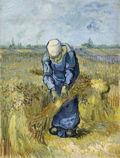 Mujer campesina atando gavillas de Van Gogh