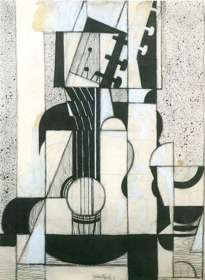 Bodegón con guitarra de Juan Gris