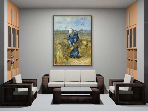 Mujer campesina atando gavillas de Van Gogh, decoración
