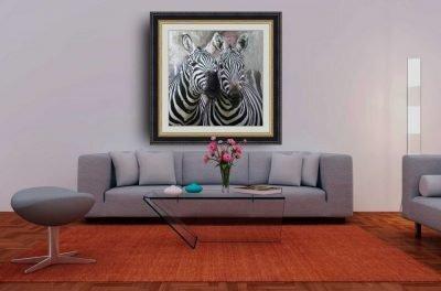 Cebras, decoración