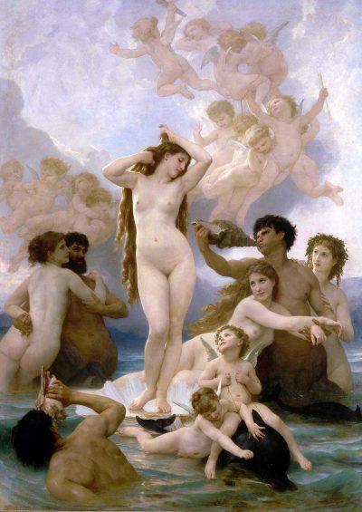 El nacimiento de Venus de William Bouguereau