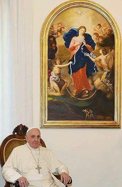 Papa Francisco y La Virgen Desatanudos