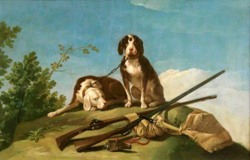 Perros en traílla de Goya