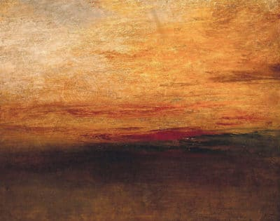 Atardecer de William Turner