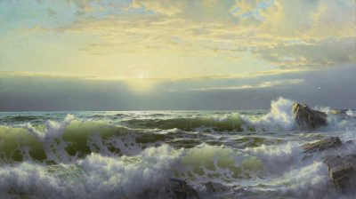 Cerca de Conanicut Newport de William Trost Richards