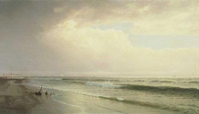 Marina con faro, Atlantic City, New Jersey de William Trost