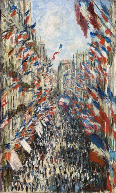 Rue Montorgueil, Paris, Festival of June 30, 1878 by Monet