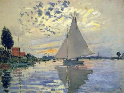 Velero en Le Petit-Gennevilliers de Monet