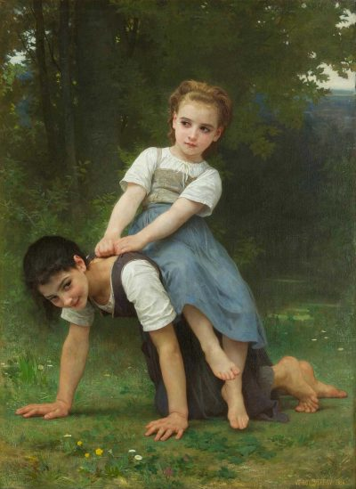 La borrica o el paseo a caballo de william Bouguereau