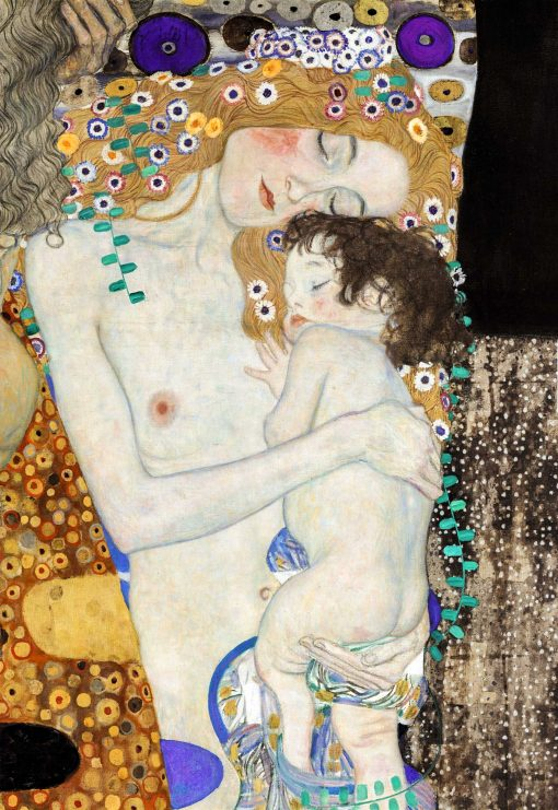 Mother and daughter by Gustav Klimt