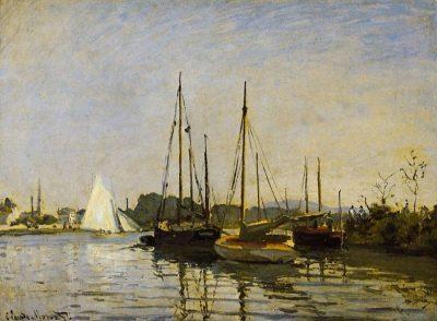 Barcos de recreo, Argenteuil de Claude Monet