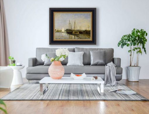 Barcos de recreo, Argenteuil de Claude Monet, decoración