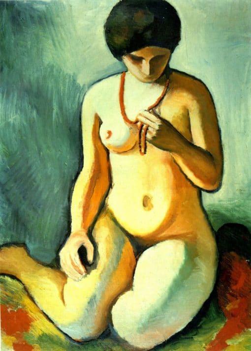 Desnudo con collar de corales de August Macke