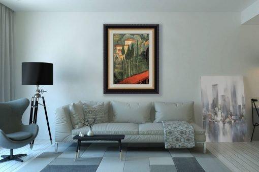 Paisaje, sur de Francia de Modigliani, decoración