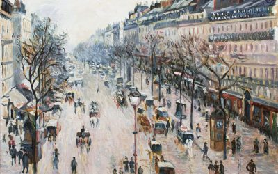 Reproduction of Boulevard Montmartre by Pissarro