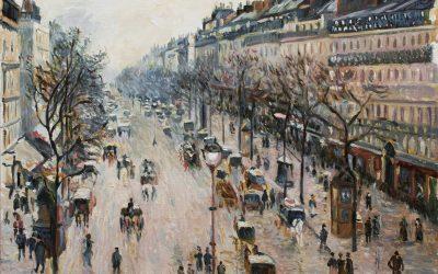 Reproducción de Boulevard Montmartre de Pissarro