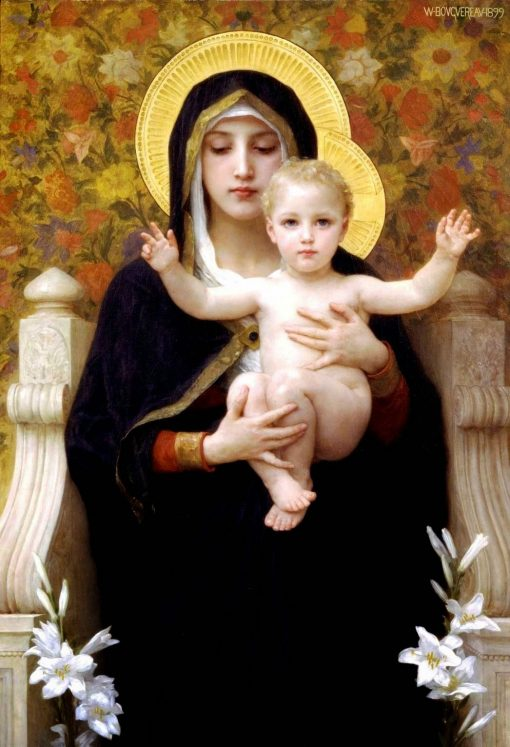 La Virgen de los lirios de William Bouguereau