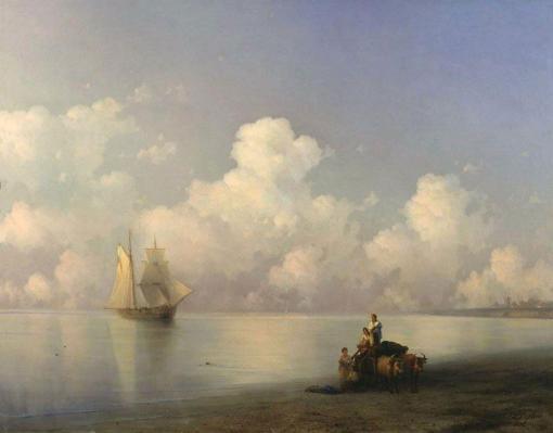 Tarde en el mar de Ivan Aivazovsky