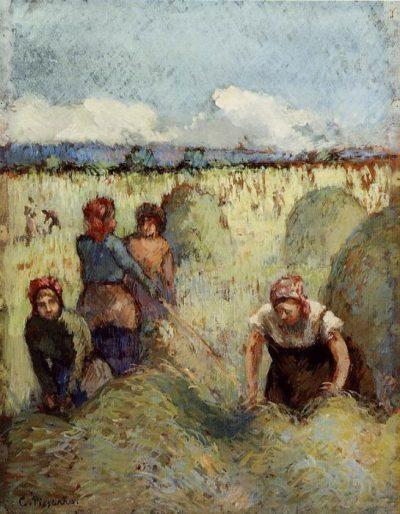 La recogida del heno de Camille Pissarro