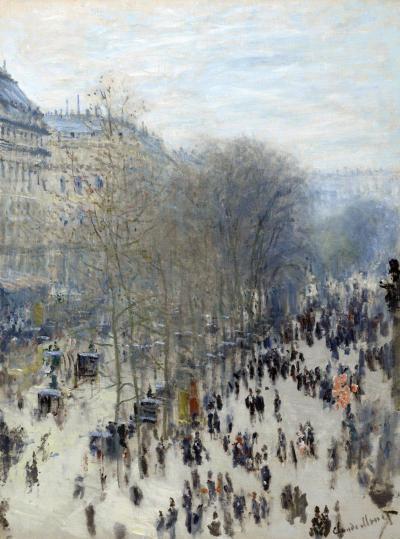 El bulevar de los Capuchinos de Monet