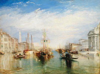 Venecia, desde el pórtico de Madonna della Salute de William Turner