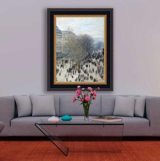El bulevar de los Capuchinos de Monet, decoración