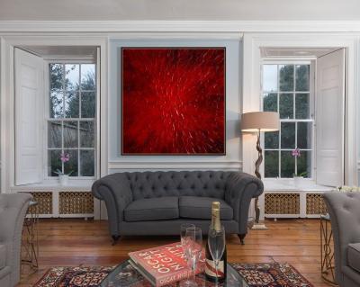 Abstracto en rojo por Copiamuseo, decoración