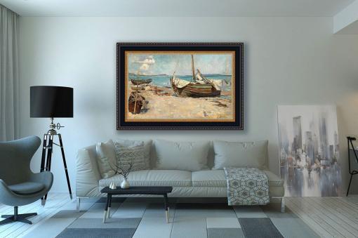 Barcos de pesca en la playa de Eugen ducker