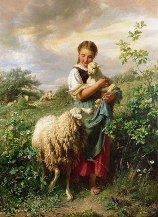 La joven pastora de Johann Baptist Hofner