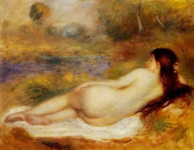 Desnudo recostado en la hierva de Renoir