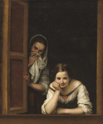 Mujeres en la ventana de Murillo
