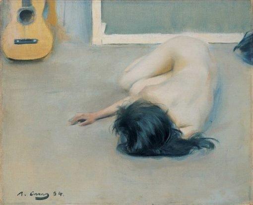 Desnudo con guitarra de Ramón Cassas