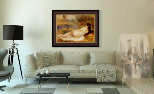 Desnudo recostado en la hierva de Renoir, decoración de salón