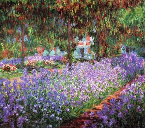 El jardín del artista en Giverny de Claude Monet