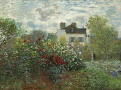 El jardín del artista en Argenteuil o un rincón
