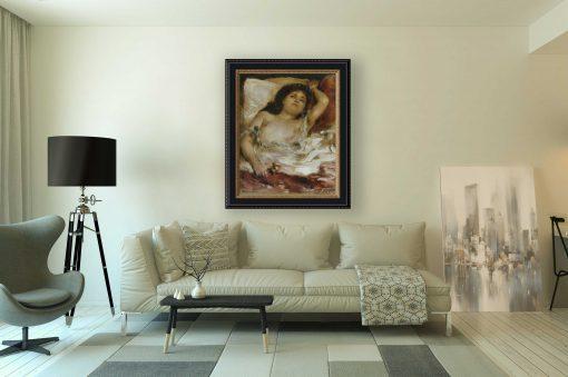 Mujer semidesnuda acostada de Renoir, decoración