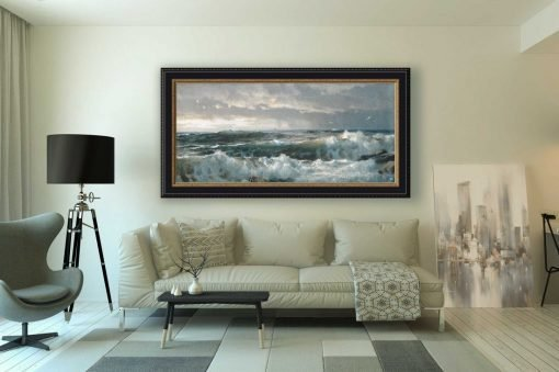 Surf en las rocas, marina de William Trost Richards, decoración