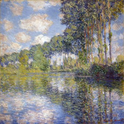 Álamos en el Epte de Claude Monet