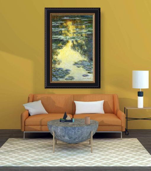 Nenúfares 3 de Monet, decoración