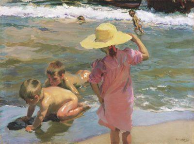 Niños a orillas del mar de Joaquín Sorolla
