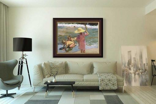 Niños a orillas del mar de Joaquín Sorolla, decoración