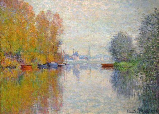 Otoño en el Sena, Argenteuil de Monet